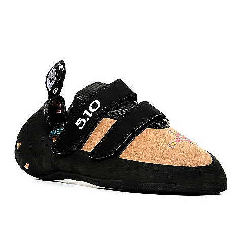 Climbing Features of the Five Ten Men's Anasazi VCS Climbing Shoe Stealth C4 Rubber - Provides High friction and excellent edging Stiff Midsole Lined synthetic Upper Velcro closure - $164.95