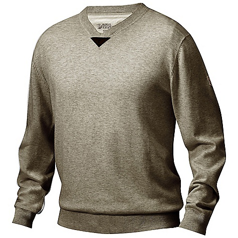 Free Shipping. Fjallraven Men's Woods Summer Sweater DECENT FEATURES of the Fjallraven Men's Woods Summer Sweater V-neck sweater with a soft cotton/wool blended knit G-1000 Lite details at the front Leather details The SPECS 80% cotton, 20% wool G-1000 Lite: 65% polyester, 35% cotton - $124.95