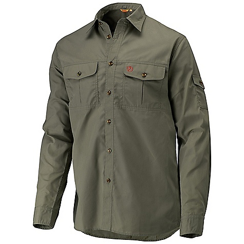 Camp and Hike On Sale. Free Shipping. Fjallraven Men's Keb Lite Shirt DECENT FEATURES of the Fjallraven Men's Keb Lite Shirt Long sleeved classic fit trekking shirt in G-1000 Lite Roll up sleeves Ventilation openings with mesh in arm pits and under the yoke back 2 bellowed chest pocket and 1 arm pocket for cellphone or gps The SPECS Fit: Classic Fit UPF: 50+ Fabric: G-1000 Lite: 65% polyester, 35% cotton ripstop - $103.99