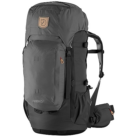 Free Shipping. Fjallraven Abisko 55 Pack DECENT FEATURES of the Fjallraven Abisko 55 Pack Lightweight trekking backpack for all year use Comfortable carrying system specifically designed for women, easily adjustable for different user lengths Full front opening for easy packing and great content overview Thermo molded bottom provides stability and protection Supportive hip belt with twin-pull adjustment and zippered stretch pocket Large front pocket holds rain gear etc Leather details The SPECS Weight: 2060 g excl. rain cover Webbing: 100% polyamide Dimension: (H x W x D): 67 x 32 x 33 cm Volume: 55 liter Rain Cover: Included System: Adjustable back length 210D HD Ripstop polyamide (40% recycled), 210D HD Wide Dobby polyamide (40% recycled) - $279.95