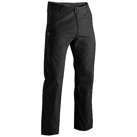 Free Shipping. Fjallraven Men's Sten Trousers DECENT FEATURES of the Fjallraven Men's Sten Trousers Everyday trouser in G-1000 Lite Low waist and regular fit 2 hand pockets, 1 leg pocket with a hidden zip and 2 back pockets with flap Leather Logo The SPECS Fit/Waist: Regular Fit/Low Waist Fabric: G-1000 Silent: 65% polyester 35% cotton Brushed Leg Ending: Raw Length Leg Type: Full Leg Weight: 363 g - $139.95