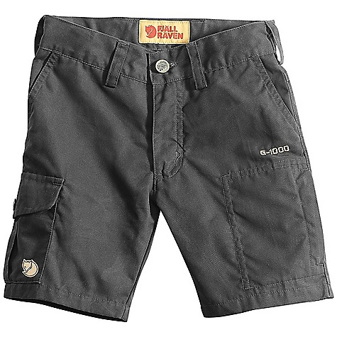 Free Shipping. Fjallraven Kids' Alex Short DECENT FEATURES of the Fjallraven Kids' Alex Short Shorts in G1000 Original for kids 2 hand pockets front 1 map pocket, 1 leg pocket, 1 leather men pocket Elastic adjustment in waist Leather Logo The SPECS Fabric: G-1000 Original: 65% polyester, 35% cotton - $59.95