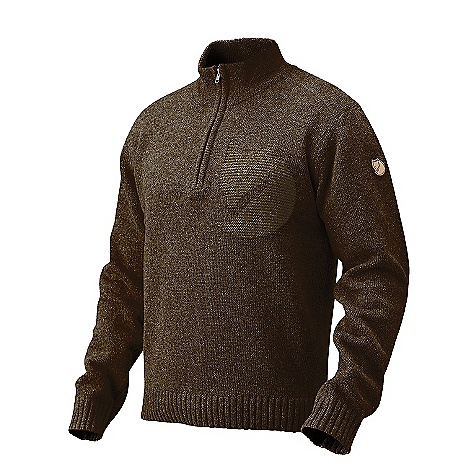 Motorsports Free Shipping. Fjallraven Men's Loge Sweater DECENT FEATURES of the Fjallraven Men's Loge Sweater Comfortable sweater in wool blend with cotton Exceptional warming properties of wool, with the soft touch of cotton Half zip collar Detail Fjallraven fox knitted at chest The SPECS Fit: Comfort Fabric: 70% wool, 30% cotton - $169.95