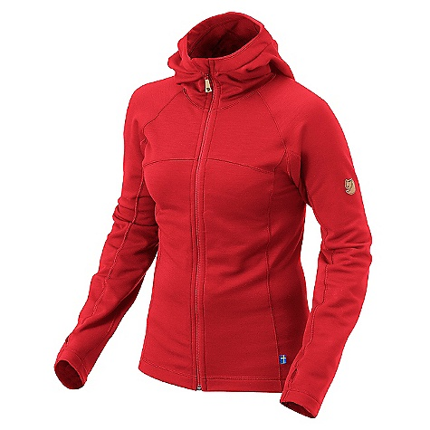 Free Shipping. Fjallraven Women's Tur Fleece Hoodie DECENT FEATURES of the Fjallraven Women's Tur Fleece Hoodie Functional blend of recycled Polyester, wool and elastane Slim fit fleece with hood and 1 inside zipper pocket Full-zip front with chin protector and thumbhole at cuff Leather details The SPECS 50% recycled polyester 20% polyester 20% wool 10% elastane - $199.95
