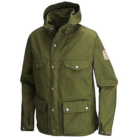 Features of the Fjallraven Women's Greenland Jacket Classic Fjallraven jacket Snug Fitting hood Reinforced shoulders and elbows 2-way opening bellow hand pockets Leather details - $224.95