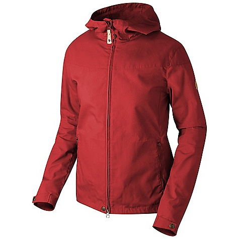 Features of the Fjallraven Women's Stina Jacket Casual jacket in G-1000 Original and G-1000 Lite with a fixed hood Pre-shaped arms Two hand pockets with zip closures - $199.95