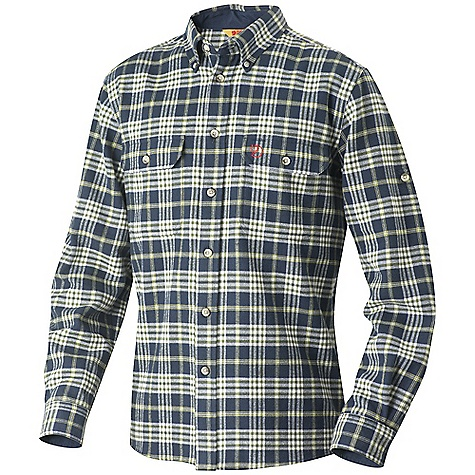 Hunting Free Shipping. Fjallraven Men's Duck Shirt DECENT FEATURES of the Fjallraven Men's Duck Shirt Comfort fit cotton flannel shirt with G-1000 original details in collar stand, cuffs and under pocket flaps Roll-up sleeve function, button down collar 2 chest pockets with pen hole The SPECS Fit: Comfort 100% cotton flannel Lining: G-1000 Original: 65% polyester, 35% cotton - $139.95