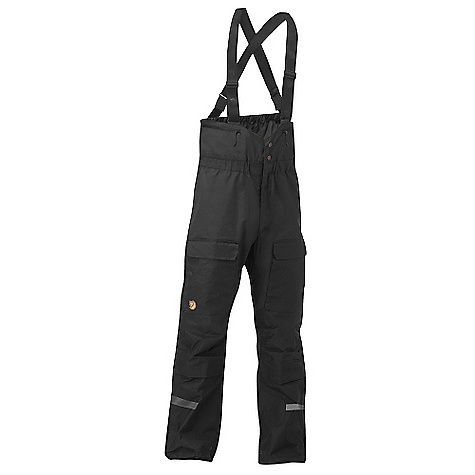 Entertainment On Sale. Free Shipping. Fjallraven Tur Trousers DECENT FEATURES of the Fjallraven Tur Trousers The optimal hardwearing and functional combination of G-1000 2-way full zips at sides for easy dress and undress and ventilation possibilities, 2-way front fly zipper Innovative solution for toilet visits out in nature with out having to take off the suspenders Pre-shaped knees and butt with removable crush pads 2 big bellow pockets on the legs Fixed adjustable leg endings with concealed boot hook and eyelets to attach boot cord, inside snow gaiters 2 small pockets at bib for batteries etc Reflective piping behind the knees and lower front side Pump effect on leg ending The SPECS Fit/Waist: Comfort Fit/High waist Fabric: G-1000 HD: 65% polyester, 35% cotton G-1000 Original: 65% polyester, 35% cotton Leg Ending: Fixed Length Leg Type: Full Leg Weight: 913 g - $238.99