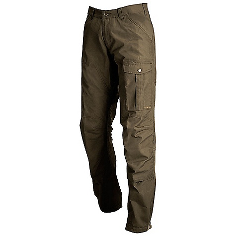 Free Shipping. Fjallraven Men's Sarek Trouser DECENT FEATURES of the Fjallraven Men's Sarek Trouser Tough trekking trousers in G-1000 Original and stretch Pre-shaped knees 1 map pocket, 1 small leg pocket, 1 multi tool pocket, 2 hand pockets Double layer of G-1000 at the back, knees and inside bottom leg for extra reinforcement Adjustment at bottom leg Leather details The SPECS Weight: (M): 612 g Fit/Waist: Regular Fit/Mid Waist Reinforcement: Yes Leg Ending: Fixed length Leg Type: Full leg G-1000 Original: 65% polyester, 35% cotton Stretch: 63% polyamide, 26% polyester, 2% elastane - $169.95