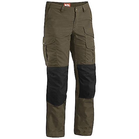 On Sale. Free Shipping. Fjallraven Women's Barents Pro DECENT FEATURES of the Fjallraven Women's Barents Pro Hardwearing trousers in G1000 Mid waist and regular fit with pre-shaped knees Reinforced in back and knees Map pocket, multitool knife pocket, internal safety pocket Pocket in knee for kneepad Adjustment at bottom leg Leather Logo The SPECS Fit/Waist: Regular Fit/Mid Waist Fabric: G-1000 Original: 65% polyester 35% cotton Reinforcement: Yes Leg Ending: Raw Length Leg Type: Full Leg - $119.00