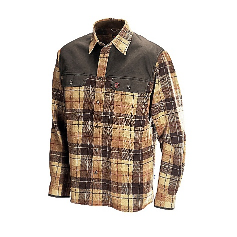 On Sale. Free Shipping. Fjallraven Men's Karbulle Shirt DECENT FEATURES of the Fjallraven Men's Karbulle Shirt Classic wool jack shirt Made from a blend of 25% wool, 45% acrylic, and 30% polyester Warm and quick drying Pleats at the back ensure unrestricted range of motion Waxed G-1000 yoke offers light rain resistance and durability under a pack strap. The SPECS Fit: Comfort Fabrics: 45% acrylic, 30% polyester, 25% wool Reinforcements in G-1000: 65% polyester, 35% cotton - $110.99