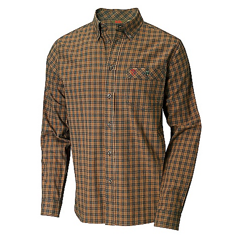 Fitness On Sale. Free Shipping. Fjallraven Men's Wood Shirt DECENT FEATURES of the Fjallraven Men's Wood Shirt Part of Fjallraven's Forest collection Designed for hunting, hiking and other forest activities Soft earthy color blend with nature Hidden safety colors signal your presence when needed Long sleeve 100% cotton shirt Full button front and button-down collar Left chest pocket with button closure - $99.00