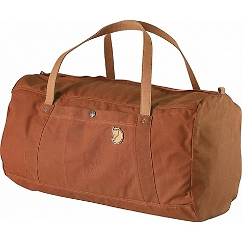 Entertainment Free Shipping. Fjallraven Duffel No. 4 50L DECENT FEATURES of the Fjallraven Duffel No. 4 50L Made in a heavier version of our waxed G-1000 fabric Handles are dimensioned for carry in hand, on shoulder or even on back Zippered main compartment with easy-to-grab metal puller Double layers in bottom One zippered and one buttoned pocket on outside Internal safety pocket Straps and logo in leather The SPECS Webbing: Polyamide Dimension: (H x W x D): 32 x 54 x 32 cm Volume: 50 liter Zipper: YKK Weight: 780 g Fabric: G-1000 Heavy-Duty: 65% polyester, 35% cotton - $169.95