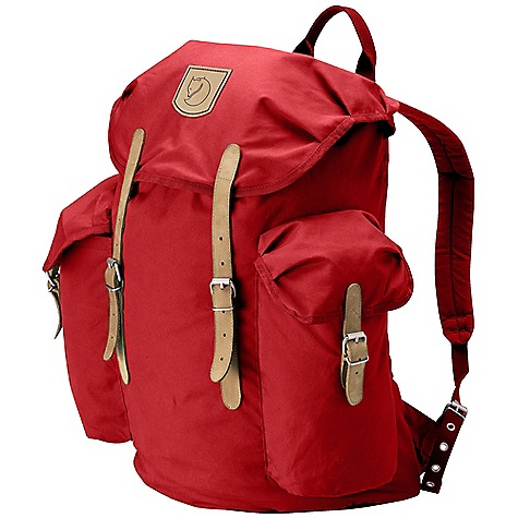 Camp and Hike On Sale. Free Shipping. Fjallraven Vintage 20 Pack DECENT FEATURES of the Fjallraven Vintage 20 Pack Padded and ventilated back Padded shoulder straps with chest buckle Top loaded backpack, top lid with safety pocket 1 main compartment with draw cord closure 2 big side pockets with top lid closure Leather details The SPECS Weight: 850 g Webbing: Polyester Dimension: ( H x W x D): 42 x 40 x 25 cm Volume: 20 liter System: Airvent G-1000 Original: 65% polyester, 35% cotton - $99.99