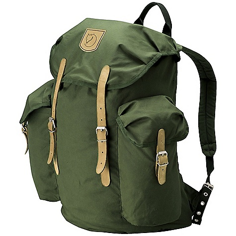 Camp and Hike Free Shipping. Fjallraven Vintage 30 Pack DECENT FEATURES of the Fjallraven Vintage 30 Pack Padded and ventilated back Padded shoulder straps with chest buckle Top loaded backpack, top lid with safety pocket 1 main compartment with draw cord closure 2 big side pockets with top lid closure Leather details The SPECS Weight: 960 g Webbing: Polyester Dimension: ( H x W x D): 44 x 47 x 25 cm Volume: 30 liter System: Airvent G-1000 Original: 65% polyester, 35% cotton - $149.95
