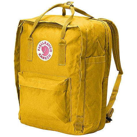 Camp and Hike Free Shipping. Fjallraven Kanken 17 Backpack DECENT FEATURES of the Fjallraven Kanken 17 Backpack Laptop version of our best-selling Kanken daypack A padded compartment protects your 17in. laptop These packs also included a removable seat pad, padded shoulder straps, reflector in logo patch and front/side pockets The SPECS Weight: 500 g Dimension: ( H x W x D): 42 x 30 x 18 cm Volume: 20 liter Laptop: Sleeve Up To: 17in. Webbing: Polypropylene - $109.95