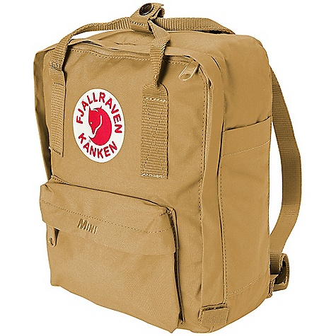 Camp and Hike Free Shipping. Fjallraven Kanken Mini Backpack DECENT FEATURES of the Fjallraven Kanken Mini Backpack Popular backpack in hardwearing Vinylon F fabric Carried as a backpack or a bag via convertible straps Removable seat pad, reflector in logo and front/side pockets Name and address label on inside of pack The SPECS Weight: 220 g Webbing: Polypropylene Dimension: ( H x W x D): 29 x 20 x 13 cm Volume: 7 liter Vinylon F: 100% polyvinyl alcohol - $54.95