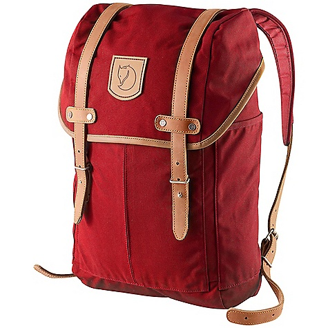 Free Shipping. Fjallraven Rucksack No. 21 15L DECENT FEATURES of the Fjallraven Rucksack No. 21 15L Made in a heavier version of our waxed G-1000 fabric Top loaded design with snow lock under lid Exterior pockets on front and sides Contrasting lining Seat pad included in pocket inside Flat pocket with padded bottom for laptop Bottle pocket on inside keeps thermos or bottle upright Lid design from our best selling backpacks during the 60's and 70's Leather details The SPECS Weight: 920 g Dimension: ( H x W x D): 42 x 25 x 12 cm Volume: 15 liter Laptop: Sleeve Up To: 13in. G-1000 HD: 65% polyester, 35% cotton - $149.95