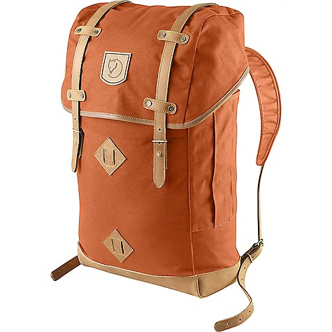Free Shipping. Fjallraven Rucksack No. 21 30L DECENT FEATURES of the Fjallraven Rucksack No. 21 30L Made in a heavier version of our waxed G-1000 fabric Top loaded design with snow lock under lid Exterior pockets on sides Contrasting lining Seat pad included in pocket inside Flat pocket with padded bottom for laptop Lid design from our best selling backpacks during the 60's and 70's Leather Details The SPECS Weight: 1210 g Dimension: ( H x W x D): 52 x 29 x 15 cm Volume: 30 liter Laptop: Sleeve Up To: 17in. G-1000 HD: 65% polyester, 35% cotton - $199.95