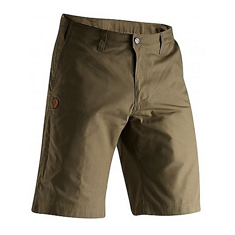 Free Shipping. Fjallraven Men's Sten Short DECENT FEATURES of the Fjallraven Men's Sten Short Comfortable, durable shorts in G-1000 Lite Favorite garment for trekking, travelling and spending time at home Low waist and regular fit Leg pocket with hidden zipper Two diagonal side pockets Two back pockets One extra small zippered safety pocket in the right side seam The SPECS Fit: Regular Waist: Lower Material: G-1000 Lite, 65% polyester, 35% cotton ripstop - $89.95
