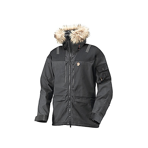Camp and Hike Free Shipping. Fjallraven Men's Tur Jacket DECENT FEATURES of the Fjallraven Men's Tur Jacket Combines classic design with durable function and flexibility As a shell garment it gives you everything you need in terms of breathability and protection from the elements Robust storm hood with detachable fur trimming so it can be worn on winter adventures in changing weather conditions The fabric is wind and water resistant G-1000 that effectively releases moisture from the body Two breast pockets, large enough for a map or a one litre thermos Two pockets at the hem and an easily accessible sleeve pocket for GPS Reinforcements in G-1000 Heavy Duty at the shoulders, on the elbows and sleeves and in the rear offer extra protection against snow, moisture and wind Reflective bands on the shoulders and hood make you visible in the dark Pre-shaped sleeves, drawcord at the hem and velcro sleeve cuffs. - $348.95