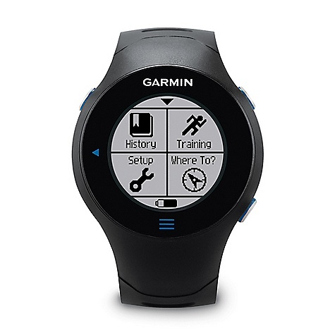Camp and Hike Free Shipping. Garmin Forerunner 610 The SPECS Unit dimensions: (W x H x D): 1.80in. x 2.50in. x 0.56in. / 4.57 x 6.35 x 1.42 cm Display size: (W x H): 1.0in. / 2.54 cm diameter Display resolution: (W x H): 128 x 128 pixels Weight: 2.54 oz / 72 g Battery: rechargeable lithium-ion Battery life: 4 weeks in power save mode 8 hours in training mode High-sensitivity receiver Lap history: 1000 laps Waypoints: 100 GPS enabled Virtual racer Vibration alert Heart rate-based calorie computation Training effect Shock Resistant touchscreen Water resistant Cadence sensor Compatible (not included) Foot Pod Compatible (not included) Automatic sync Garmin Connect compatible Virtual Partner Auto Pause Auto Lap Auto Scroll Advanced workouts Pace alert Time/distance alert Interval training Customizable screens Sport Watch Additional Specs: Watch functions include date and alarm Garmin Connect and Garmin Training Center are compatible with Windows XP or newer and Intel-based Mac OS 10.4.11 or later with Safari - $349.95