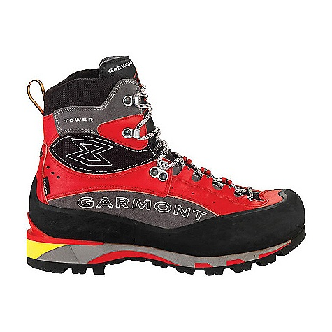 Free Shipping. Garmont Men's Tower Plus GTX Boot The SPECS for Upper Weight: 1/2 per pair: 793 gram 1.8mm leather and suede construction Polyamide cuff and flex zone for added comfort Reinforced leather gusset 360deg rubber rand Lace-to-Toe closure Gore-Tex Sierra lining ADD Construction provides instant comfort and minimal break-in The SPECS for Sole Frame Flex fiberglass insole Cushioned micro porous rubber insole Tri-density EVA midsole PU heel insert Vibram Titus Peak outsole Semi-automatic crampon-compatible - $399.95