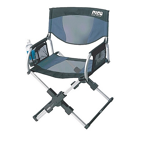 Camp and Hike Free Shipping. GCI Outdoor Pico Arm Chair DECENT FEATURES of the GCI Outdoor Pico Arm Chair Chair back storage caddy Beverage holder and storage pockets Carry bag The SPECS Weight Capacity: 250 lbs Open Size: 17 x 22 x 34in. Seat Height: 17in. Folded Size: 20 x 3.75 x 12in. Unit Weight: 10 lbs - $99.00