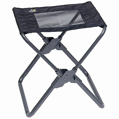 Camp and Hike GCI Outdoor Xpress Camp Stool DECENT FEATURES of the GCI Outdoor Xpress Camp Stool Folds down to 1/9th its size due to patent pending Xpress Telescoping Technology Easy to open and close Powder-coated steel frame Polyester fabric seat Supports 250 lb (113.4 kg) The SPECS Open size: 17.5 x 16.5 x 17 in (44.5 x 41.9 x 43.2 cm) Seat height: 17 in (43.2 cm) Folded size: 17.5 x 15 x 2.5 in (44.5 x 38.1 x 6.4 cm) Unit weight: 5 lb (2.3 kg) - $24.99
