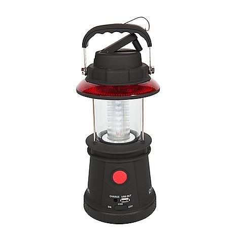Fitness Goal Zero Lighthouse USB Power Hub Lantern DECENT FEATURES of the Goal Zero Lighthouse USB Power Hub Lantern Usage Recharge Time: 4 hours Run Time: 5+ hours Inputs 12V port: Charging port (male car adapter), 12V, 0.5A max (2.5W) Hand Crank: 1W (1 min crank for 10 min run-time) Output Light: Power 1W, white LED, Life-span: 10s of thousands of hours, Visible distance: 120 meters USB Port: 5V, 1.0A max (5W) Internal Battery: Lithium-ion 3.7V, 2.2Ah (8Wh), Life-span: 10s of thousands of hours, Visible distance: 120 meters Battery mgmt.: integrated and fully automatic The SPECS Weight: 2 lbs (0.9 kg) Dimensions: 5 x 5 x 12 in (12.7 x 12.7 x 26.7 cm) Optimal Operating Temperature: 32-104 F (0-40 C) - $39.95