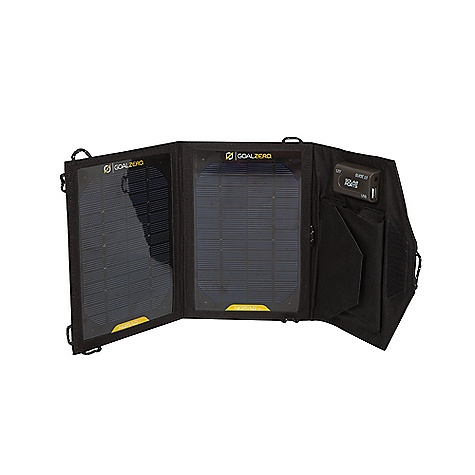 Camp and Hike Free Shipping. Goal Zero Nomad 7 Solar Panel DECENT FEATURES of the Goal Zero Nomad 7 Inputs: Solar Panel: Rated Wattage: 7W Cell Type: Monocrystalline Open-circuit voltage: 6.5-7V Converting Efficiency: 17-18% Cell Area: 0.0394 m2 Outputs: USB Port: 5V, 1.0A max (5W), linear regulated 12V Port: 13-15V, 0.2A max (3W), boost regulated Solar Port (for Guide 10): 6-6.5V, 1.0A max (6W), not regulated The SPECS Weight: 0.8 lbs (0.36 kg) Dimensions (folded): 6 x 9 x 1 in (15 x 26 x 2.5 cm) Dimensions (unfolded): 17 x 9 x 0.1 in (43 x 23 x 0.25 cm) Optimal Operating Temperature: 0-120 F (-17-48 C) - $79.95