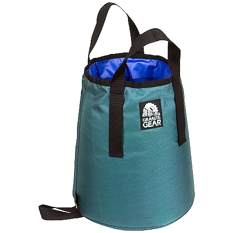 Granite Gear Water Bucket DECENT FEATURES of the Granite Gear Water Bucket 210D Nylon Cordura 70 D Ripstop Ideal for hauling water to your campsite Tapered walls strengthen shape Collapsible Hang and dry loop at bottom The SPECS Dimension: 13.5 x 13.5 x 11in. - $27.95