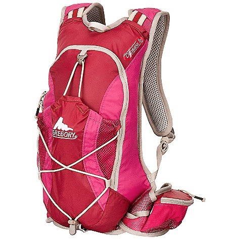 Free Shipping. Gregory Women's Dipsea Pack DECENT FEATURES of the Gregory Women's Dipsea Pack Bio-Sync ATS Suspension Aero-Mesh backpanel Hydration port and sleeve with tube management system on the harness Adjustable sternum strap Dual waistbelt pockets Side mesh pockets Fleece-lined media pocket Interior mesh organizer and key clip Webbing loop for securing bicycle light or reflector 70d UTS coated nylon Women's specific fit Fits up to a 2 liter reservoir Front stretch mesh pocket with compression and overflow bungee cord The SPECS Volume: 320 cubic inches / 5.5 liter Weight: 1 lb / 450 g Click to download some super information on how to properly Fit a Gregory Pack . - $68.95