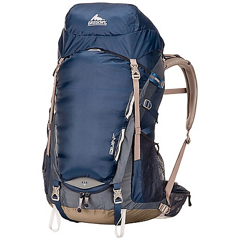 Free Shipping. Gregory Savant 58 Pack DECENT FEATURES of the Gregory Savant 58 Pack Intuition 3D Suspension Water-resistant roll top style top pocket Breathable, molded foam backpanel, harnesses and waistbelt Side stash, zippered quick access pocket External hydration access Large panel zipper access to main pack body Side and bottom compression Dual axe/tool attachment points Top lid security pocket Integrated, color-matched raincover Horseshoe zipper for wide access from the front panel 4 mm gauge wire used for the wishbone internal frame to carry heavier loads 10 mm EVA foam for waistbelt 12 mm EVA foam for harness The SPECS for Small Volume: 3295 cubic inches / 54 liter Weight: 3 lbs 4 oz / 1.5 kg The SPECS for Medium Volume: 3539 cubic inches / 58 liter Weight: 3 lbs 9 oz / 1.6 kg The SPECS for Large Volume: 3783 cubic inches / 62 liter Weight: 3 lbs 14 oz / 1.8 kg Click to download some super information on how to properly Fit a Gregory Pack . - $198.95