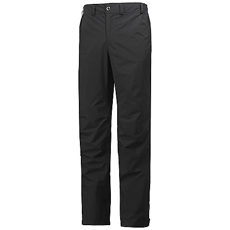 Features of the Helly Hansen Men's Packable Pant Helly Tech Protection Packs into zipped tHigh pocket Adjustable bottom leg Hand warmer pockets Zip fly construction Quick dry lining Lined for comfort Durable Water Repellency treatment (DWR) Fully seam sealed 2 ply fabric construction Waterproof, windproof and breathable - $85.00