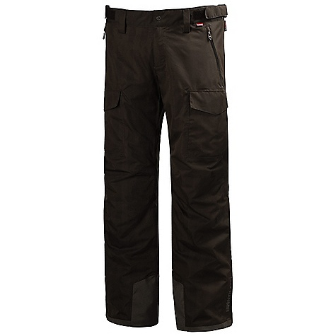 On Sale. Free Shipping. Helly Hansen Men's Mission Cargo Pant DECENT FEATURES of the Helly Hansen Men's Mission Cargo Pant Helly Tech Professional Waterproof and breathable fabric Fully seam sealed 2-layer construction PrimaLoft Sport 60g seat- and knee insulated Recco reflector Mechanical venting zippers Articulated knees Boot gaiters Reinforced bottom hem Multiple exterior pockets Waistband adjustment Belt loops YKK zippers The SPECS Fabrics: 100% Polyester Weight: 560 g Fabric Value: minimum 2000 0mm / 20000 g This product can only be shipped within the United States. Please don't hate us. - $156.99