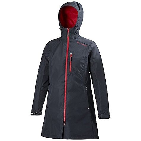 On Sale. Free Shipping. Helly Hansen Women's Long Belfast Jacket DECENT FEATURES of the Helly Hansen Women's Long Belfast Jacket 100% Polyester with micro porous coating and DWR Helly Tech Protection warmacore by primaloft The SPECS Weight: 780 g Fabric: 100% Polyester This product can only be shipped within the United States. Please don't hate us. - $109.99