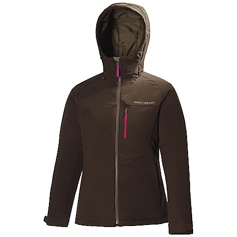 Free Shipping. Helly Hansen Women's Odin Insulated Softshell Jacket DECENT FEATURES of the Helly Hansen Women's Odin Insulated Softshell Jacket Double weave softshell construction Warm Core By Prim aloft 100 gram insulation Liner fleece stretch zones YKK Vislon center front zip YKK zipped hand pockets YKK zipped chest pocket Brushed tricot collar Velcro cuff adjustment Bottom hem adjustment Air Permeability XX CFM DWR treatment Warm and breathable jacket for outdoor advevntures and everyday use The SPECS Fitting: Regular Weight: 525 gram 90% Polyester, 10% Elastane This product can only be shipped within the United States. Please don't hate us. - $249.95