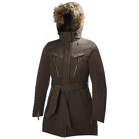 On Sale. Free Shipping. Helly Hansen Women's Spitsbergen Parka DECENT FEATURES of the Helly Hansen Women's Spitsbergen Parka Polyamide, Polyester blend - honeycomb melange Warmcore by Primaloft The SPECS Weight: 980 g Fabric: 67% Polyamide 33% Polyester This product can only be shipped within the United States. Please don't hate us. - $261.99