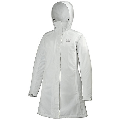 Free Shipping. Helly Hansen Women's Insulated Long Aden Jacket DECENT FEATURES of the Helly Hansen Women's Insulated Long Aden Jacket Helly Tech Protection Waterproof, windproof and breathable DWR treatment Fully seam sealed 2-layer construction Fully insulated Warm Core by Prim aloft 3/4 length Regular feminine fit Exterior and interior pockets Adjustable cuffs YKK zippers HH outline logo on chest The SPECS Fitting: Regular Weight: 180 gram 100% Polyester This product can only be shipped within the United States. Please don't hate us. - $159.95