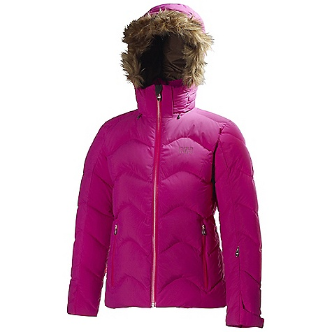 Ski Free Shipping. Helly Hansen Women's Bonney Down Jacket DECENT FEATURES of the Helly Hansen Women's Bonney Down Jacket 2L water resistant, wind proof and breathable Insulated 2-layer construction Allied Down 700 fill power 85/15 European goose down Prim aloft Synergy 120g Recco Advanced Rescue system Mechanical venting zippers Articulated arms and elbows for extra mobility Fusion modular system jacket to pant with loops Fixed, adjustable hood Dual hand warming pockets Internal pocket for electronics Ski-pass pocket YKK water resistant zippers The SPECS Fitting: Regular 100% Polyester This product can only be shipped within the United States. Please don't hate us. - $449.95