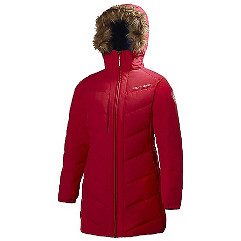 On Sale. Free Shipping. Helly Hansen Women's Hilton Down Parka DECENT FEATURES of the Helly Hansen Women's Hilton Down Parka 100% Nylon mini slub Allied Down 85/15 Europen goose down Fillpower 700+ The SPECS Weight: 1300 g Fabric: 100% Nylon This product can only be shipped within the United States. Please don't hate us. - $205.99