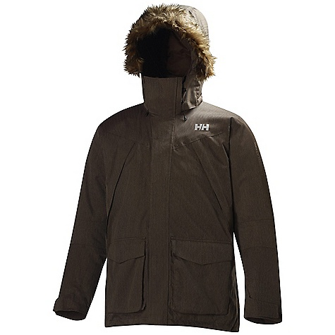 Free Shipping. Helly Hansen Men's Arctic Mission Parka DECENT FEATURES of the Helly Hansen Men's Arctic Mission Parka 100% Polyester laminated 2Layer Warmcore by Primaloft Fillpower 700+ The SPECS Fabric: 100% Polyester Weight: 1400 g This product can only be shipped within the United States. Please don't hate us. - $299.95