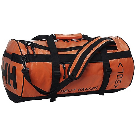 Entertainment Free Shipping. Helly Hansen HH 50L Duffel Bag DECENT FEATURES of the Helly Hansen HH 50L Duffel Bag 100% highly durable nylon tarpaulin 90 liter Padded shoulder strap Name tag holder Hide-away back pack straps Zipped outside pocket Zipped inside pocket Compression straps The SPECS 100% nylon This product can only be shipped within the United States. Please don't hate us. - $89.95