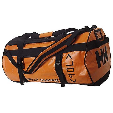 Entertainment Free Shipping. Helly Hansen HH 90L Duffel Bag DECENT FEATURES of the Helly Hansen HH 90L Duffel Bag 100% highly durable nylon tarpaulin 90 liter Padded shoulder strap Name tag holder Hide-away back pack straps Zipped outside pocket Zipped inside pocket Compression straps The SPECS 100% nylon This product can only be shipped within the United States. Please don't hate us. - $109.95