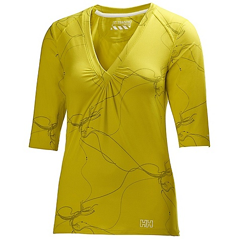 Free Shipping. Helly Hansen Women's Harmony Printed 3-4 T DECENT FEATURES of the Helly Hansen Women's Harmony Printed 3/4 T Soft Jersey with Cotton touch printed The SPECS Weight: 160 g Fabric: 95% Polyamide 5% Spandex This product can only be shipped within the United States. Please don't hate us. - $49.95