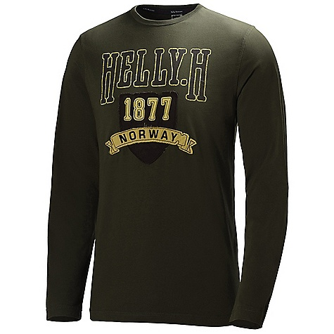 Helly Hansen Men's Graphic Longsleeve Top DECENT FEATURES of the Helly Hansen Men's Graphic Longsleeve Top Single Jersey 180g/m2 The SPECS Fabric: 100% Cotton This product can only be shipped within the United States. Please don't hate us. - $39.95