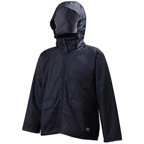 The Helly Hansen Juniors' Voss Jacket is a waterproof jacket for staying dry during wet outdoor weather. On the boat, in the Woods, at the playground and so much more, the Helox+ Technology provides 100% waterproof, breathable protection to your kid whenever they're outdoors. Your kid won't stop for much, so why let the rain even try to slow 'em down? Features of the Helly Hansen Juniors' Voss Jacket Helox+ Technology Adjustable snap cuffs Welded on hand pockets Button closure storm flap Quick dry inside Welded Seams PU fabric construction Fully wind- and waterproof - $50.00