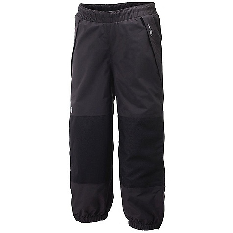 Features of the Helly Hansen Kids' Shelter Pant Helly Tech Performance Elastic waist Reflective elements Reinforced seat and knee Quick dry lining Lined for comfort Durable Water Repellency treatment (DWR) Fully seam sealed 2 ply fabric construction Waterproof, windproof and breathable - $55.00