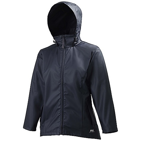 The Helly Hansen Women's Voss Jacket is a waterproof rain jacket for staying dry on wet days. The jacket is fully wind- and waterproof, with welded seams to prevent leakage. The front has an internal storm flap to block the zipper holes. The drop hood pushes out of the way when it isn't needed, allowing you to get full use of the collar at all times. The cinch cords adjust the hood to keep your eyes dry in a wicked downpour, and the hem cord cinches to close out a windy updraft. Whether you're running out the door to accomplish errands, cheering on your favorite soccer player, or exploring the great outdoors, the Voss will keep you protected from precipitation. Features of the Helly Hansen Women's Voss Jacket Helox+ Technology Adjustable snap cuffs Welded on hand pockets YKK front zipper with internal storm flap Quick dry inside Welded seams PU fabric construction Fully wind- and waterproof - $55.00
